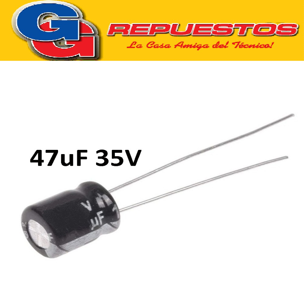 CAPACITOR ELECTROLITICO 47uFX35V MINI