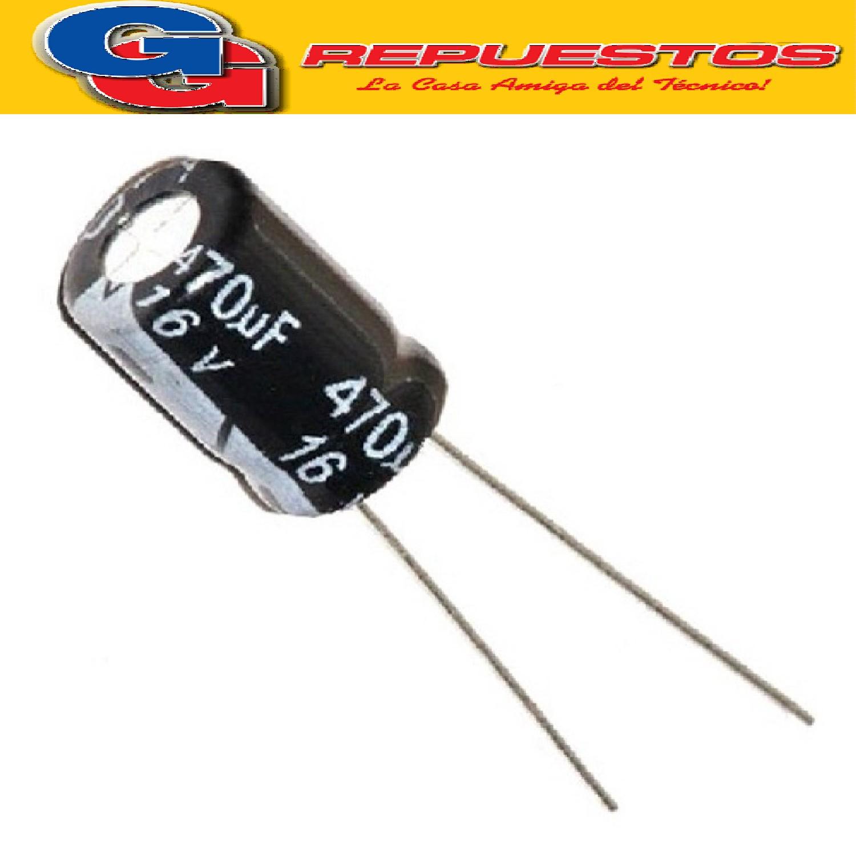 CAPACITOR ELECTROLITICO 470uFX16V PATA LARGA