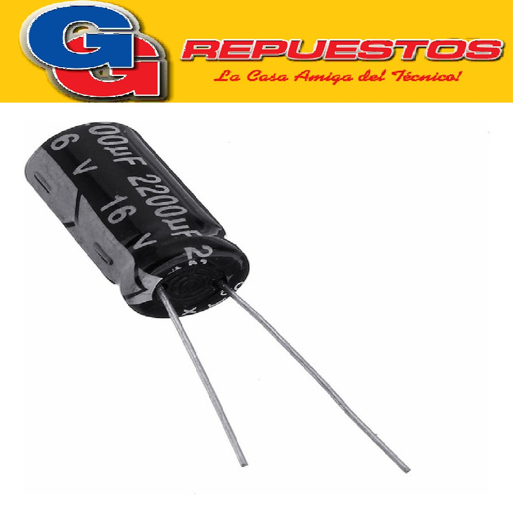 CAPACITOR ELECTROLITICO 2200uFX16V PATA LARGA