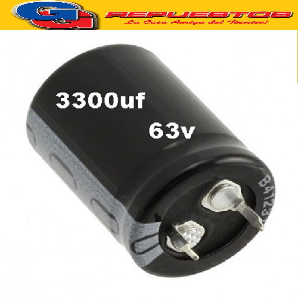 CAPACITOR ELECTROLITICO 3300uFX63V PATA CORTA (BLINDADO)
