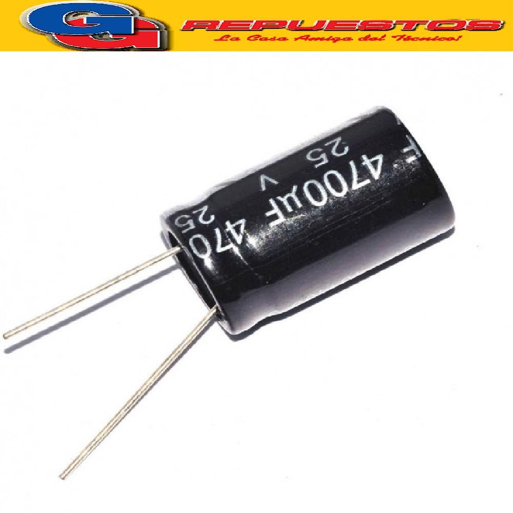 CAPACITOR ELECTROLITICO 4700uFX25V PATA CORTA