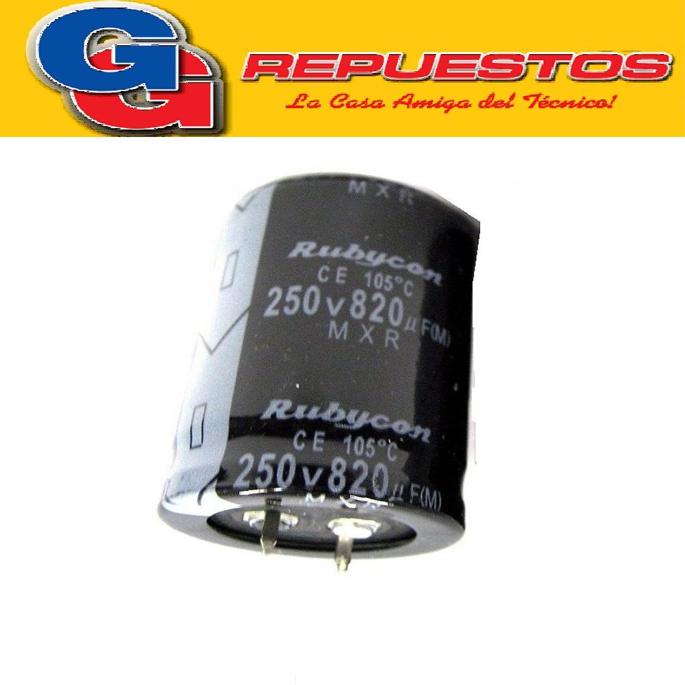 CAPACITOR ELECTROLITICO 820uFX250V BLINDADO