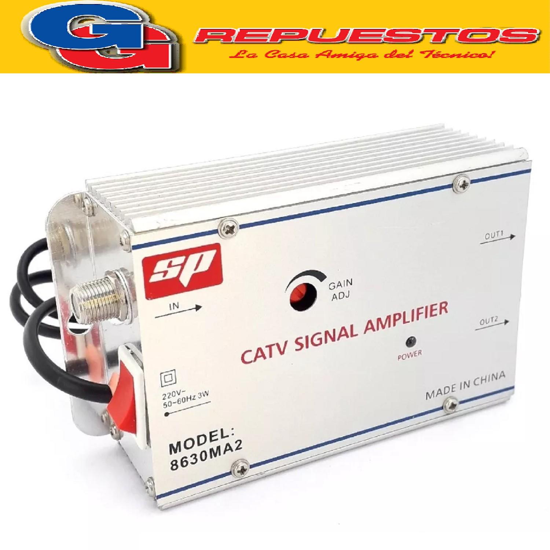 AMPLIFICADOR DE SEÑAL CATV 2 SALIDAS 30 DB 220V 8630MA2