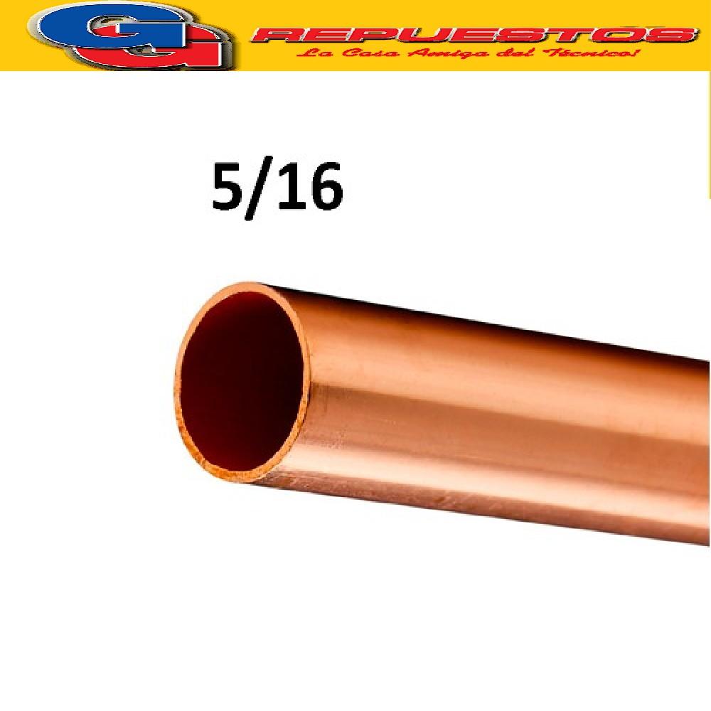CAÑO DE COBRE 5/16 FRACCIONADO POR METRO PARED 0.8 mm ELUMA IMPORTADO