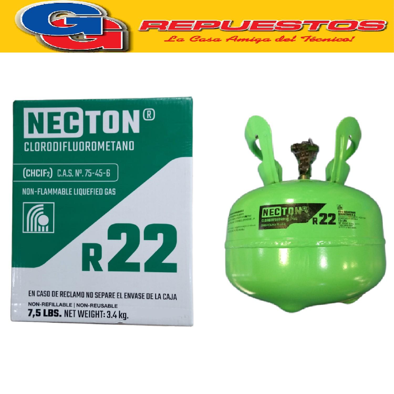 GARRAFA GAS R22 PURO NECTON 3.4 KG
