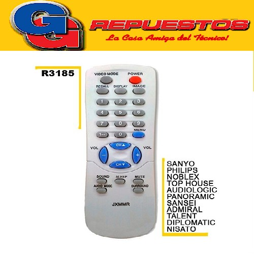 CONTROL REMOTO 3185 LINEA ECONOMICA SANYO JXMMR