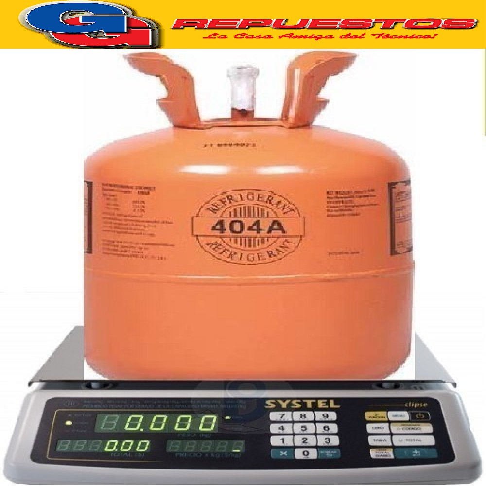 GAS FRACCIONADO R404 POR KILOGRAMO