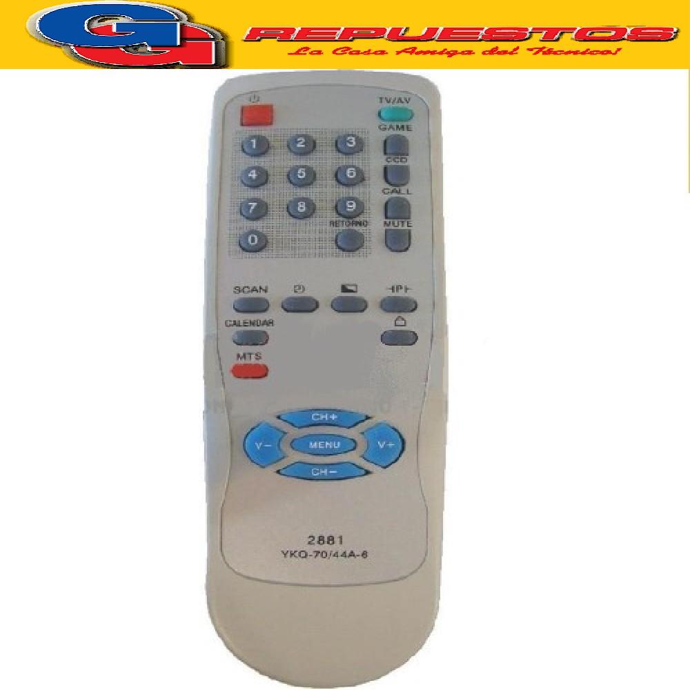 CONTROL REMOTO TV TONOMAC SLIM R4881- 2881