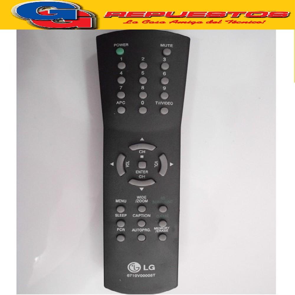 CONTROL REMOTO LG-GOLDSTAR-SERIE DORADA RC6710 2453