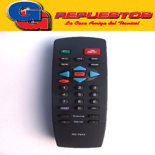 CONTROL REMOTO TV PHILIPS RC7843 (2437)