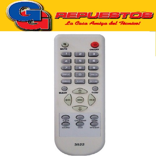 CONTROL REMOTO TV HOWLAND TOPHOUSE R6522 (3522)