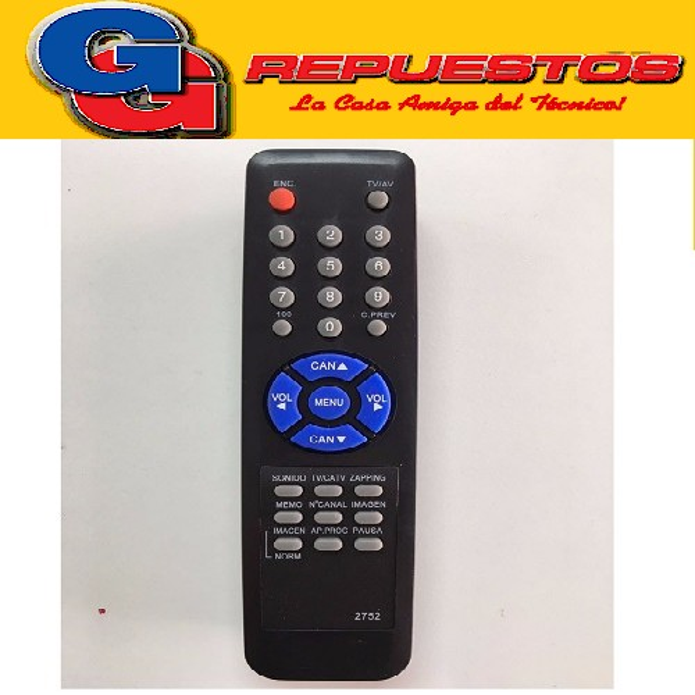 CONTROL REMOTO TV CROWN MUSTANG ALFIE (2752)