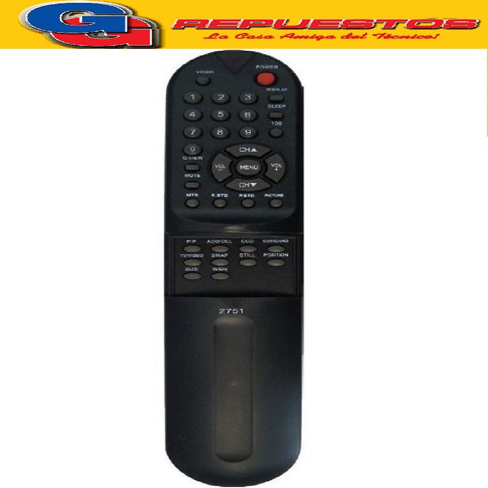 CONTROL REMOTO TV ADMIRALRD3500 2751