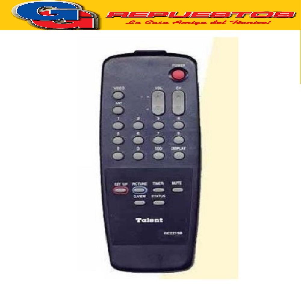 CONTROL REMOTO TV RE2215C AUDINAC TALENT MP1016 (2983)
