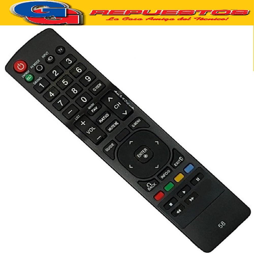 CONTROL REMOTO TV LG LCD MP1343 - 3822