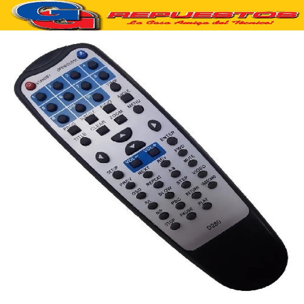 CONTROL REMOTO DVD1800 TOP HOUSE D868 (3533)