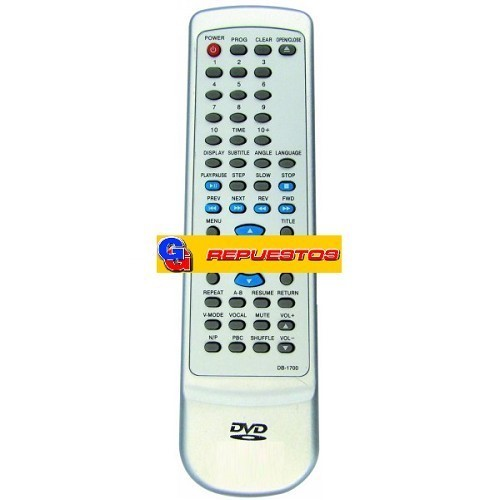 CONTROL REMOTO DVD DURABRAND D817-DVD817 (2801)