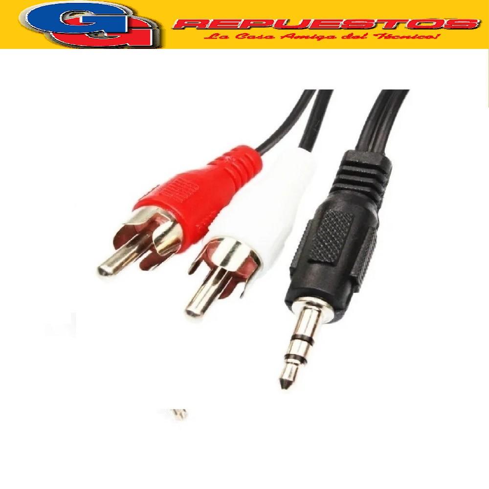 CABLE AUXILIAR PLUG/JACK/RCA (ESTEREO) 3.5 A 2 RCA - 1.80MTS - Jl41103