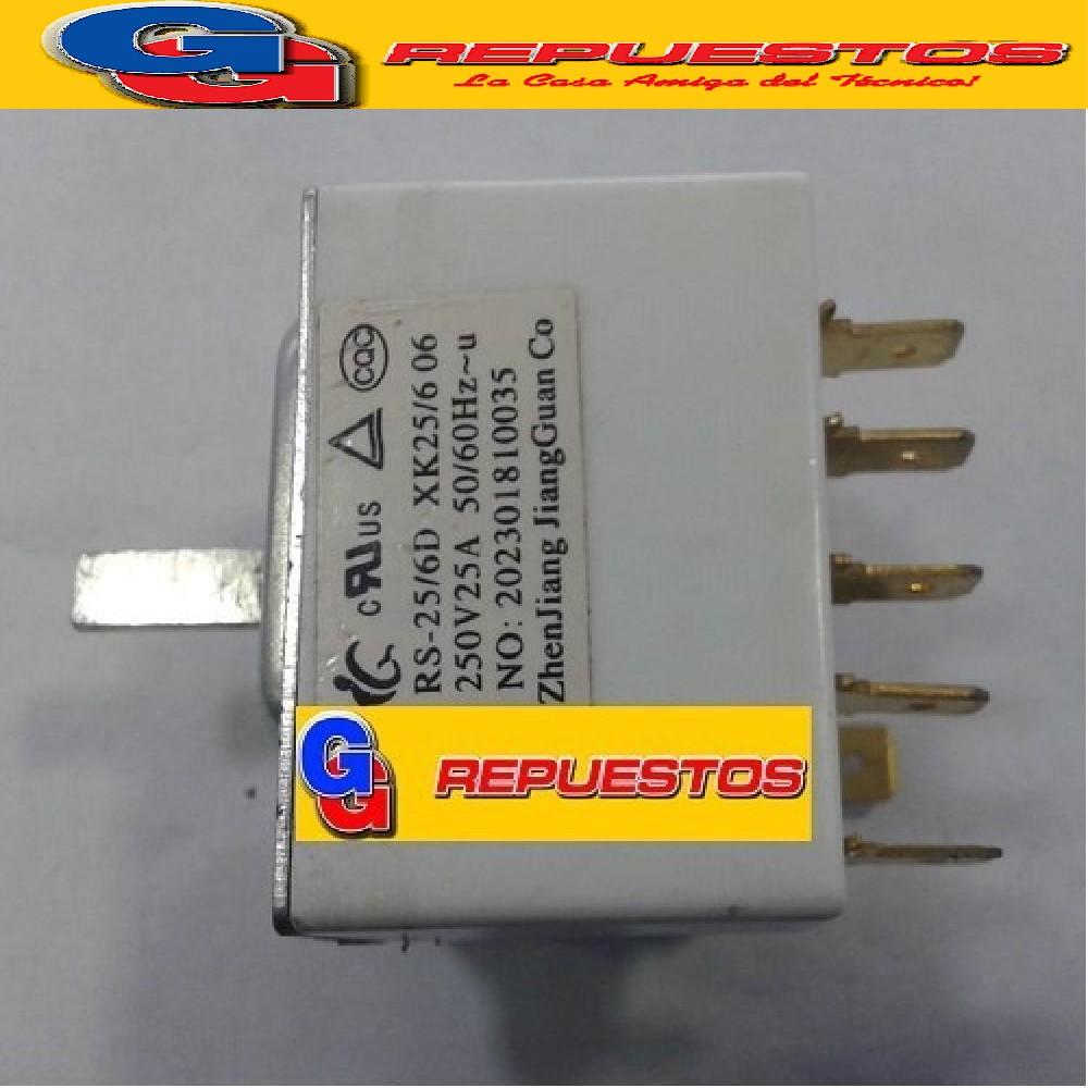 LLAVE ROTATIVA SELECTORA AIRE ACONDICIONADO  (6 POSICIONES 6 CONTACTOS) (RS-25/6D / XK25/6) 25A 250V 20230181035