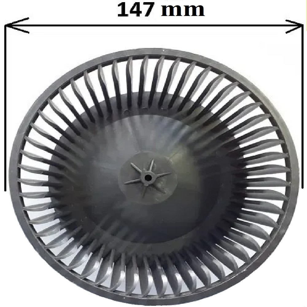 TURBINA PURIFICADOR AXEL AX 800 IZQUIERDA EJE 5 mm DIAMETRRO 140 mm ALTO 65 mm