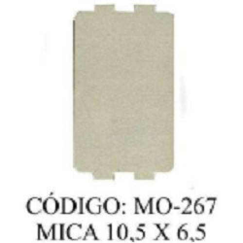 MICA PARA MICROONDAS 10,5 X 6,5 CON 4 OREJAS
