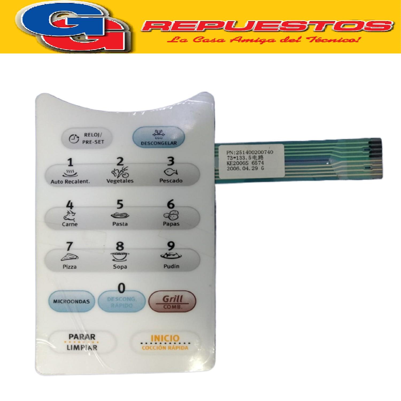 TECLADO MICROONDAS ELECTROLUX MD133 (3060) (MO-261) EMJA263D2PW