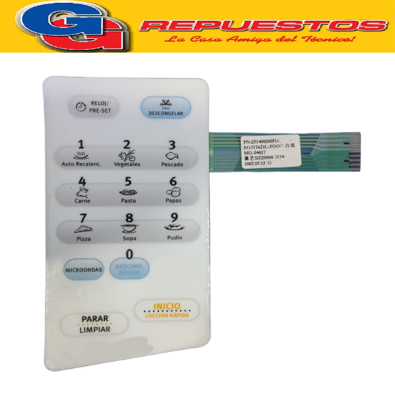 TECLADO MICROONDAS ELECTROLUX  EMNAA203D1PW SIN GRILL
