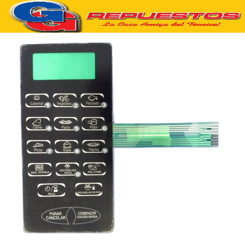 TECLADO MICROONDAS SANYO MD244 EMGX2305