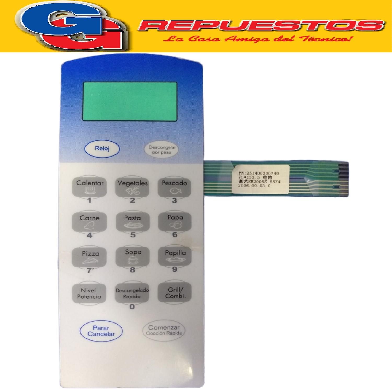 TECLADO MICROONDAS VARIOS EG925CAY