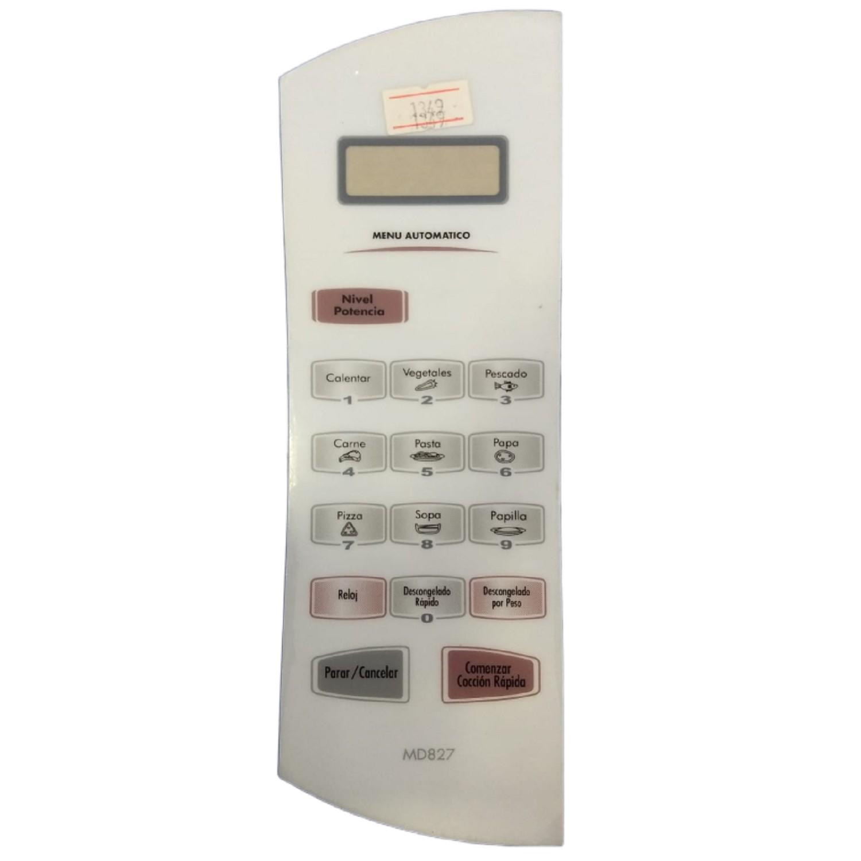 SERIGRAFIA TECLADO MICROONDAS ATMA MD827 SOLO CALCO SIN CONTACTOS