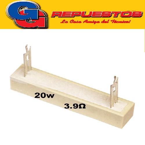 RESISTENCIA CERAMICA 20W 5% 3E9 3R9 (MODEL. CPC)