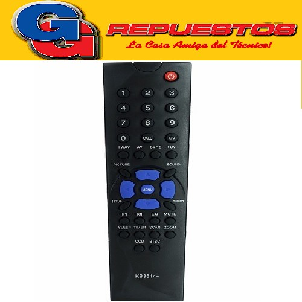 CONTROL REMOTO TV TONOMAC SLIM NEGRO 3514