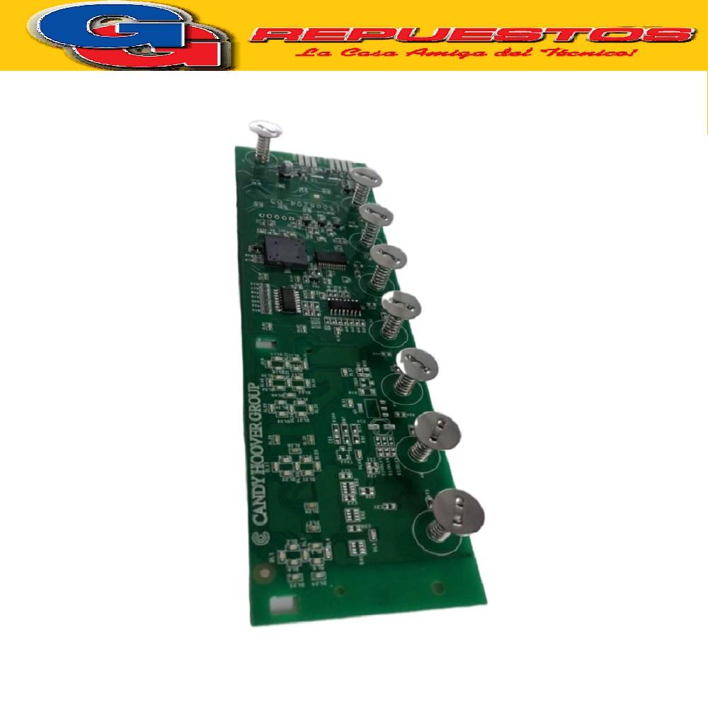 PLAQUETA DISPLAY TOUCH LAVARROPAS CANDY VITA 106T/12-ser31006659-VITA 108T-GV128T12 ser31006664 -GV108T12 ser31006663 (ORIGINAL) PLACA P/PANEL de LCD TACTIL) Se vende con codigo de serie del artefacto y se cambian las dos placas (mandos y potencia)  Cod.Origenal: 49038679 (CANDY GIAS) Modulo electr.panel mand./VITA 106 49037875 (CANDY GIAS) KIT SCH. 41043318 + ISTR./ Modulo electr.panel mand.GV108T12-GV128T12 49038690 (CANDY GIAS) Modulo electr.panel mand./VITA 108T 41043318 (CANDY GIAS)