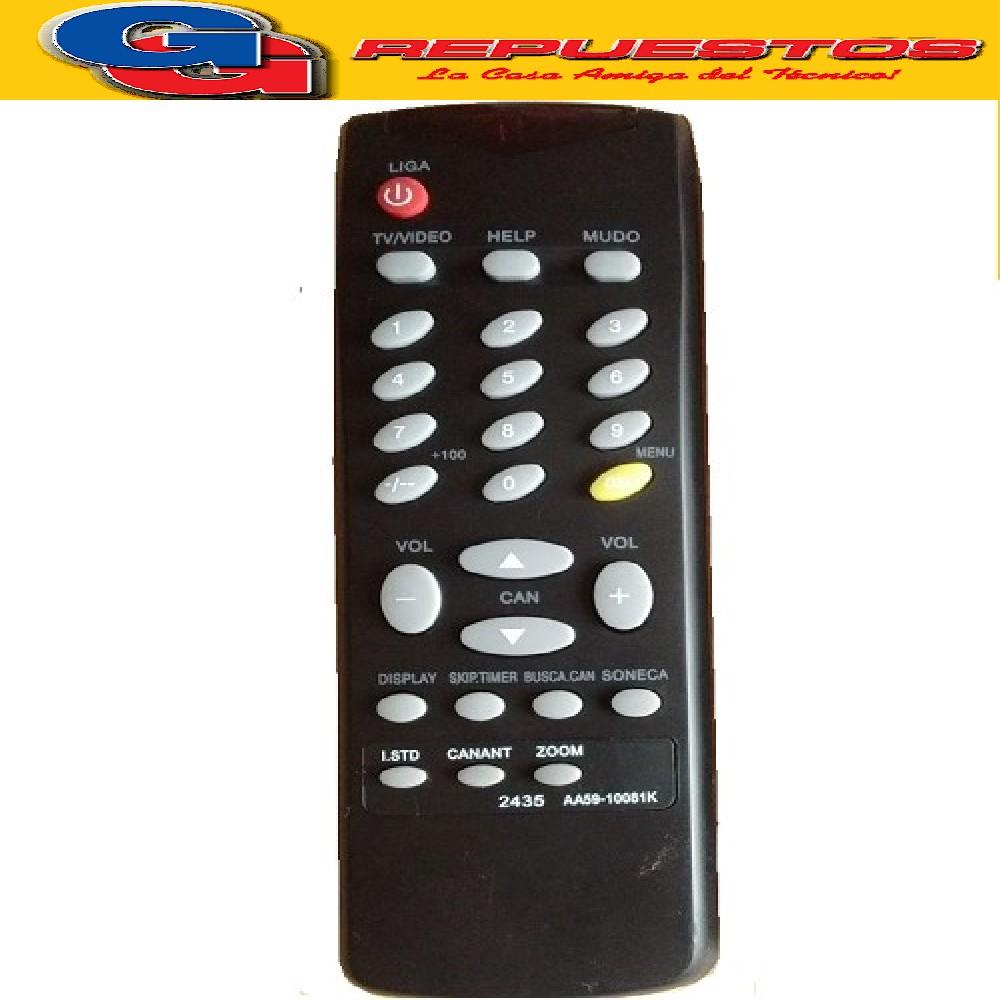 CONTROL REMOTO TV SAMSUNG AA59-10081K (AA59-81K) 2435