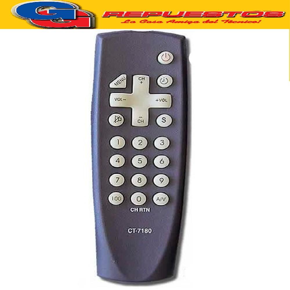 CONTROL REMOTO TV TOSHIBA NUEVO (2876) CT7140