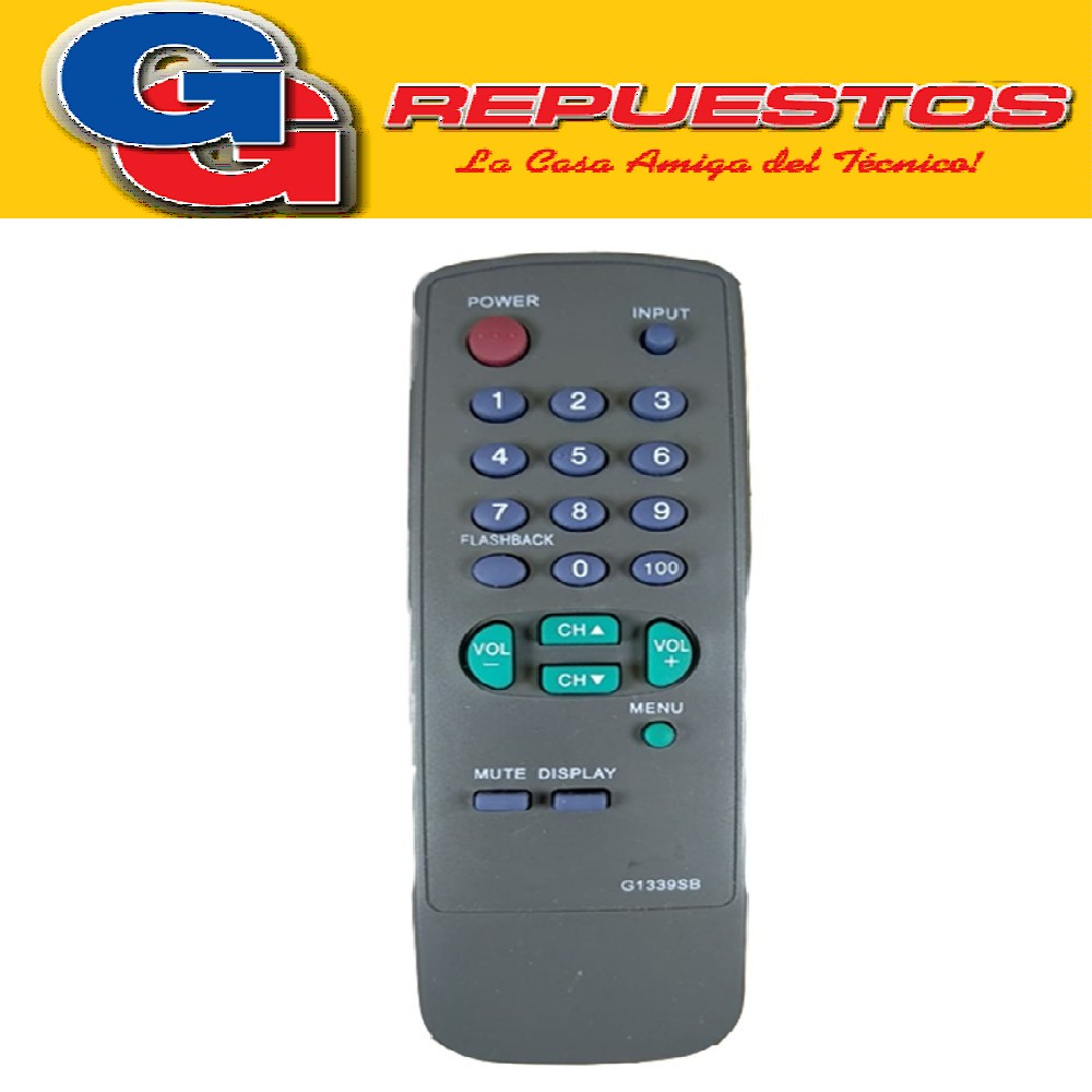 CONTROL REMOTO SHARP 100 MENU 2858 G1339SB