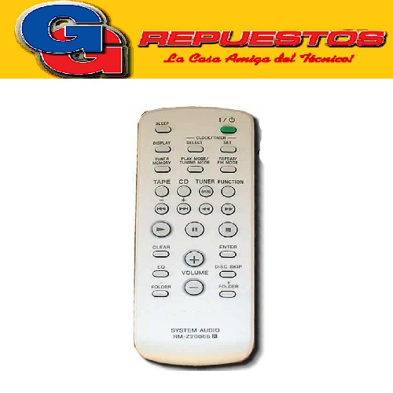 CONTROL REMOTO EQUIPO DE AUDIO SIMILAR A SONY  (3119) SIMILAR A AIWA