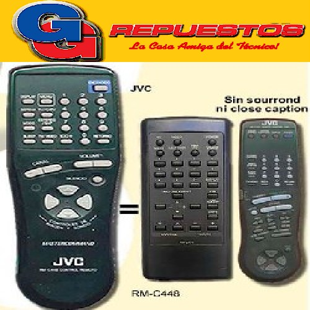 CONTROL REMOTO TV JVC RMC445 (2458) PALETA