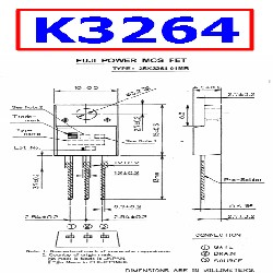 TRANSISTOR 2SK3264 MOSFET TO-220F (800V - 7A - 60W)= 6N60