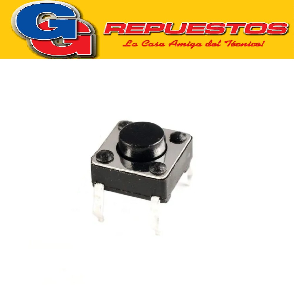 MICROSWITCH TSC4 TACT SWITCH 4 PATAS 6x6 CUADRADO.3mm