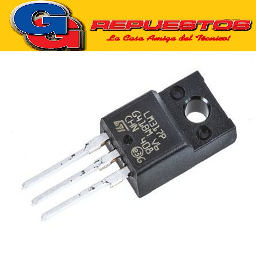 LM317P REGULADOR DE TENSION AJUSTABLE 1.25V a 37V  ISOWATT220 (40V)