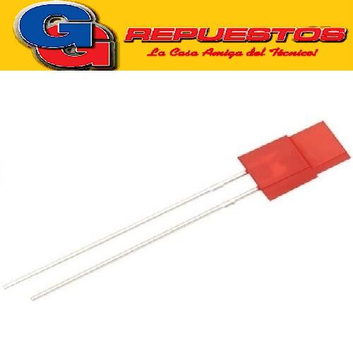 LED704R1 LED ROJO 5MM RECTANGULAR
