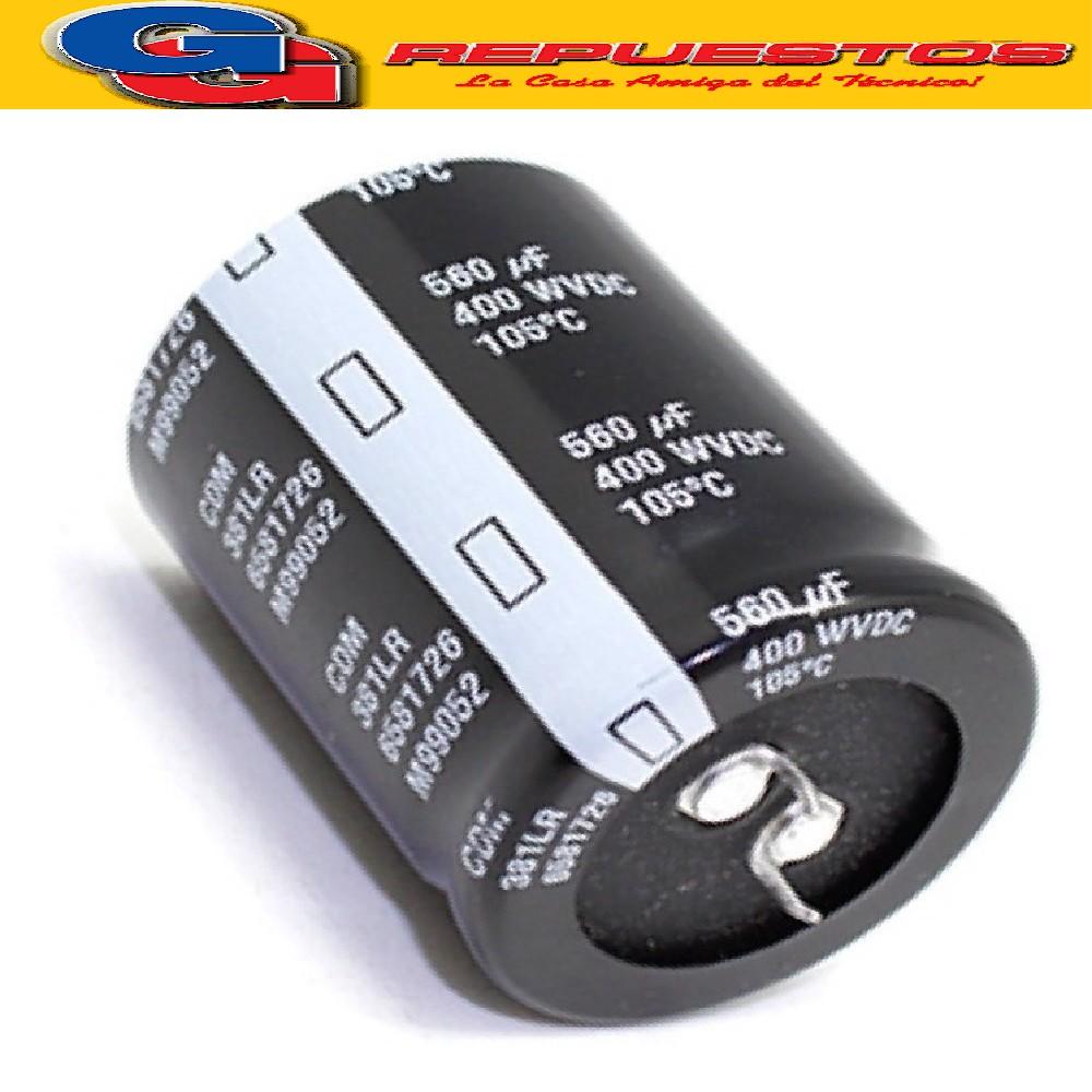 CAPACITOR ELECTROLITICO 560uFX400V)