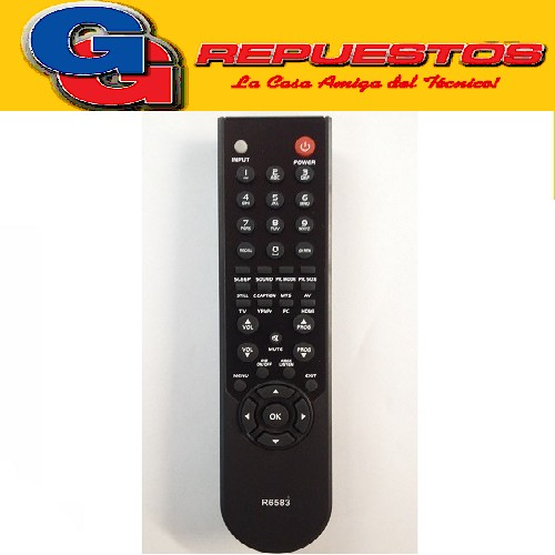 CONTROL REMOTO LCD TOP HOUSE 3583 R6583
