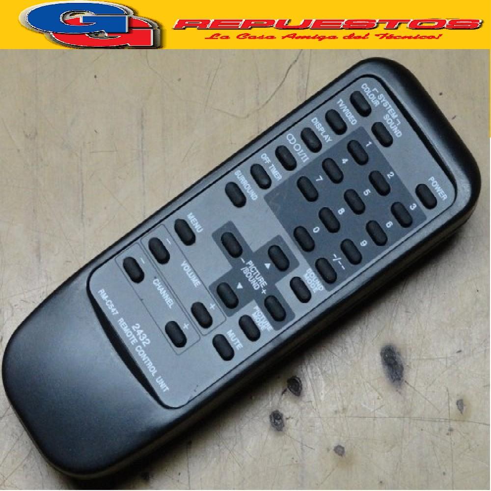 CONTROL REMOTO TV JVC RMC547 0114 2432