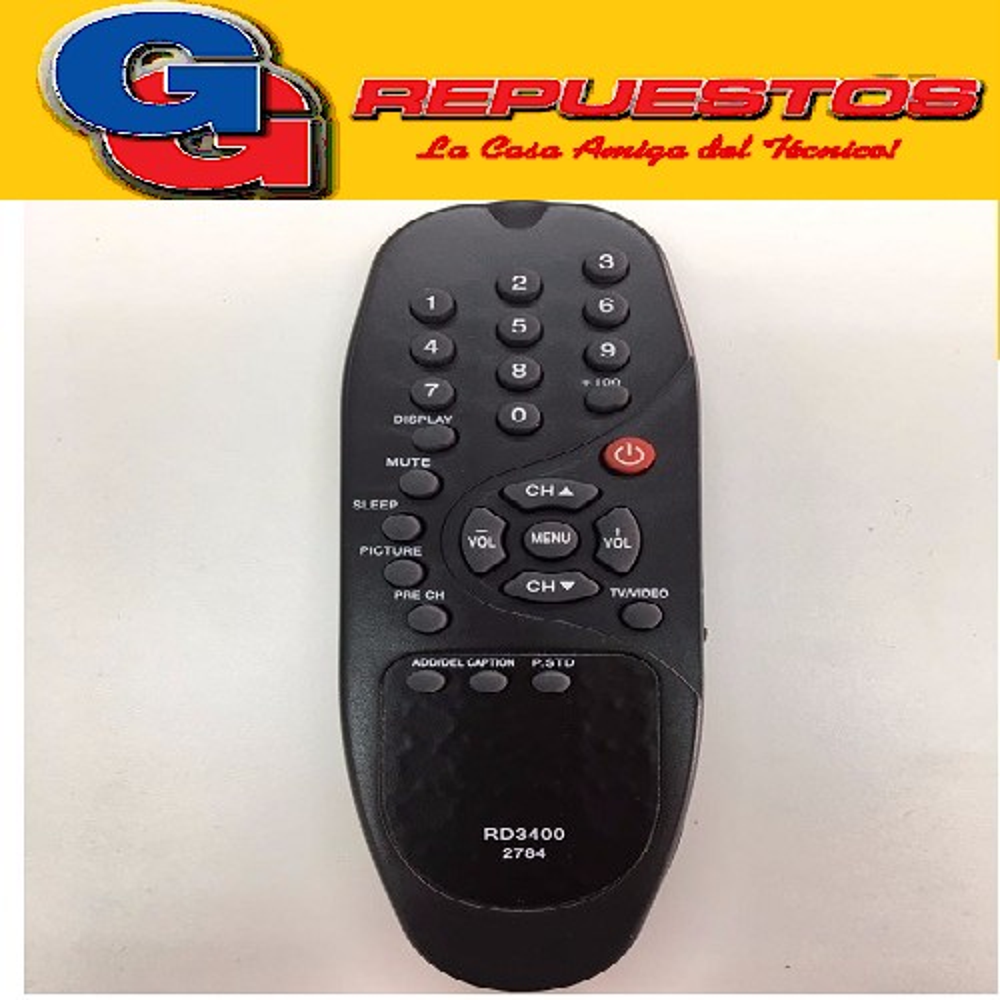CONTROL REMOTO TV HITACHI BANANITA 3165