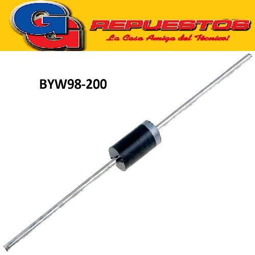 BYW98-200 DIODO RAPIDO HIGH EFFICIENCY FAST RECOVERY RECTIFIER DIODES 35 ns (200V -3A)