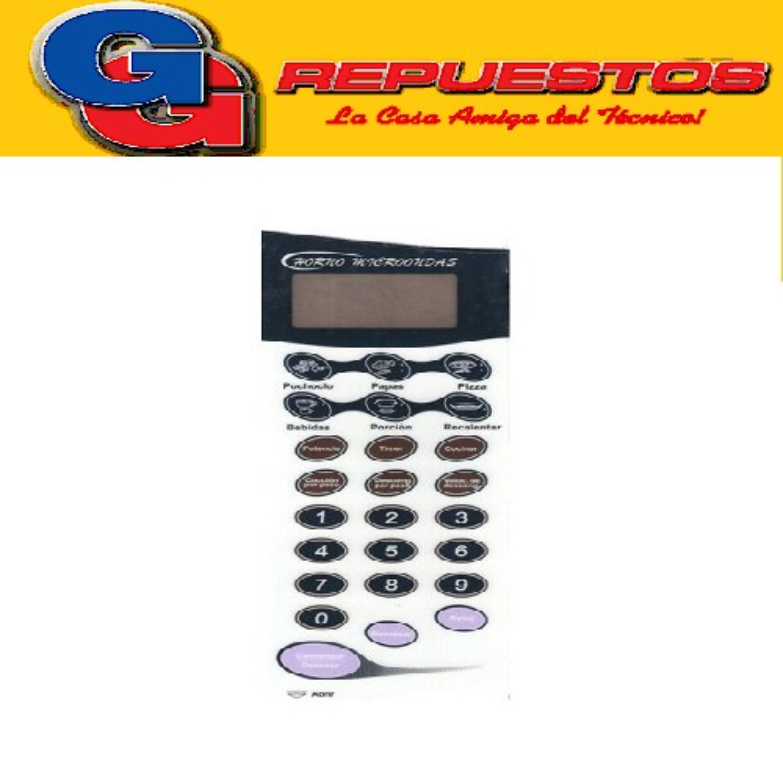 TECLADO MICROONDAS MD221 SIGMA GALANZ WP800AP20