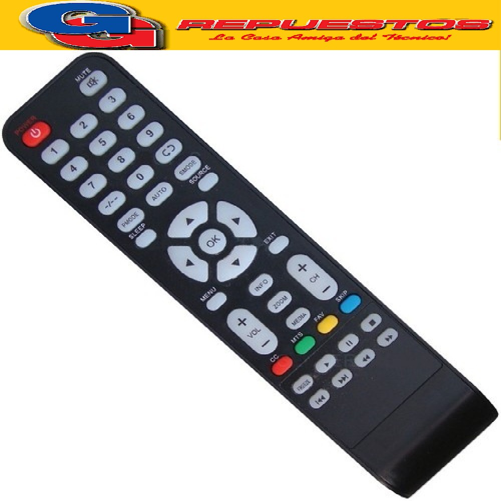 CONTROL REMOTO LCD ADMIRAL TONOMAC 3812 MOD AD3212HD