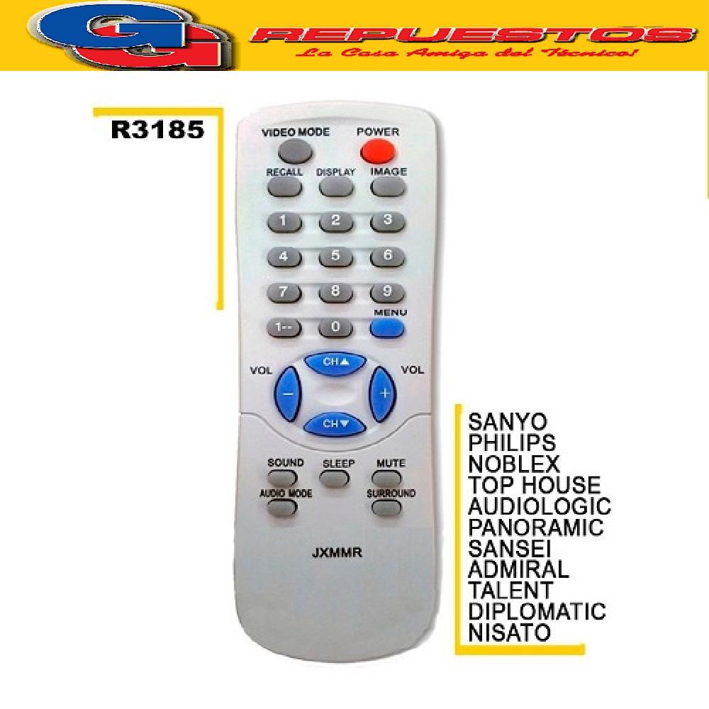 CONTROL REMOTO SANYO CHICO JXMRA TV42 JXMRR 3185